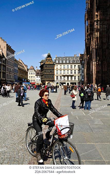Street Life in Strasbourg, Alsace, France