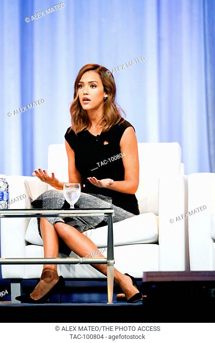 Jessica Alba speaks during a keynote Q&A at the 2015 Pennsylvania Women's Conference