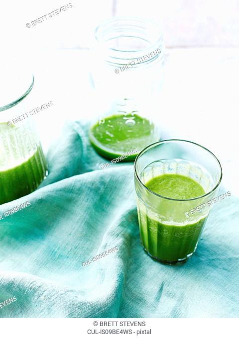 Watercress, rock melon smoothie