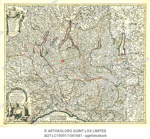 Map, Status et ducatus Mediolanensis et Parmensis, Carel Allard (1648-1709), Copperplate print
