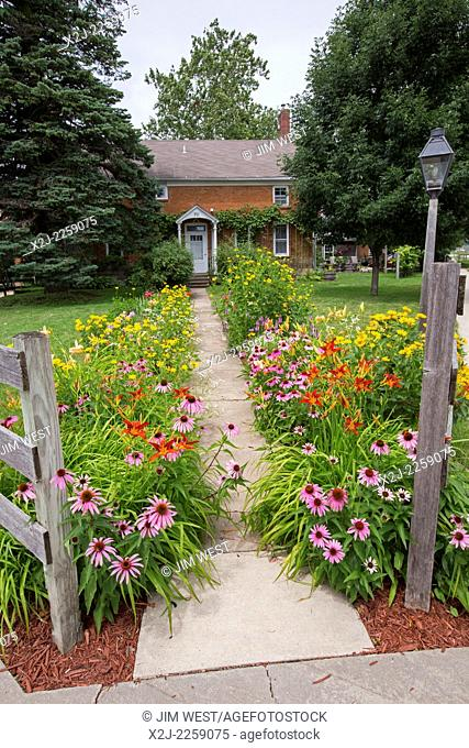 Amana, Iowa - The Amana Heritage Museum at the formerly communal Amana Colonies, established by German immigrants in 1855