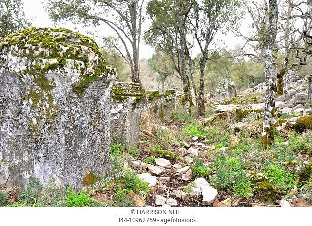termessos, thermessos, town, ancient Greece, Europe, Greek, remains, buildings, architecture, landmarks, ruins, stonework, mountain, Anatolia, turkey, Taurus