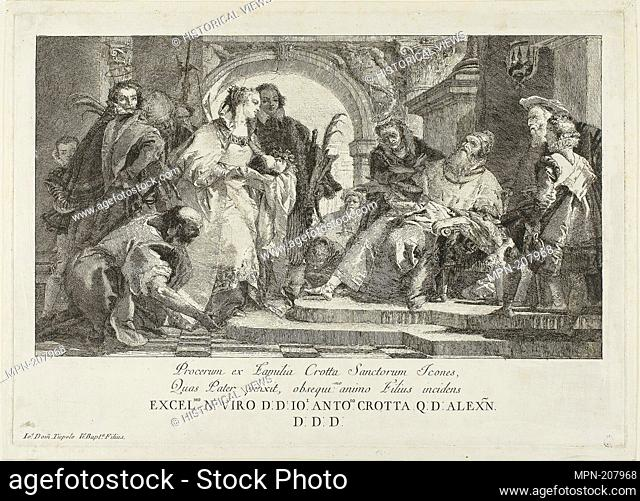 The Patron Saints of the Crotta Family - after 1750 - Giovanni Domenico Tiepolo (Italian, 1727-1804) after Giambattista Tiepolo (Italian