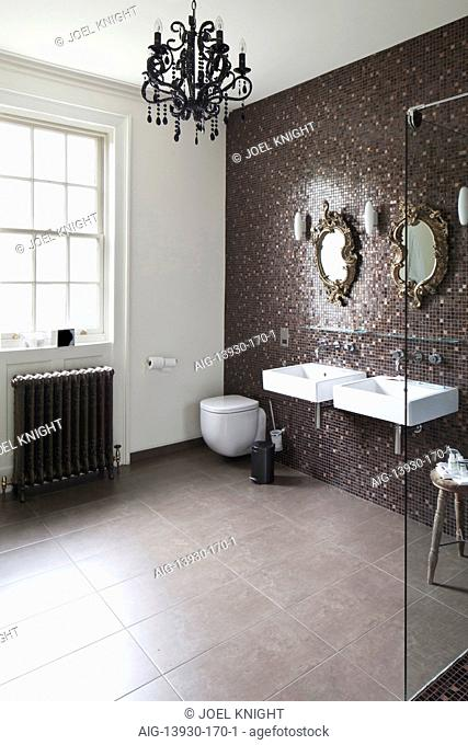Modern bathroom in boutique bed and breakfast, The Reading Rooms, Margate, Kent
