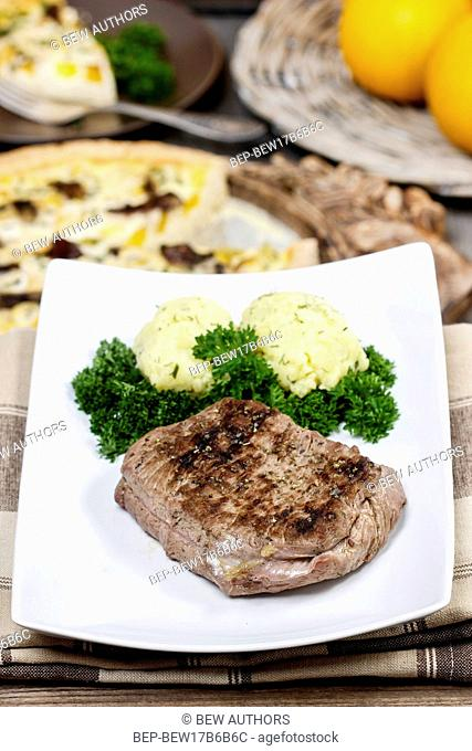 Roasted beef with potatoes