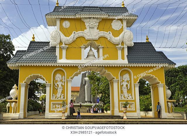 entrance of Uthpalawanna Sri Vishnu Devalaya Temple, both Buddhist and Hinduist place of worship, Dondra, South Coast, Sri Lanka, Indian subcontinent