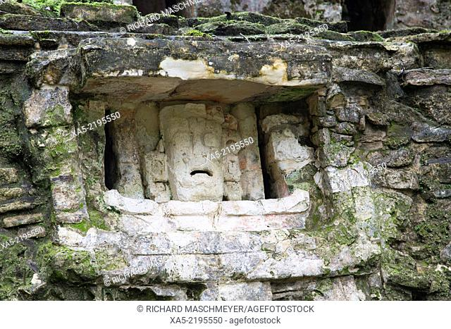 Structure 6 with carved mask, Yaxchilan, Mayan Archaeological Site, Chiapas, Mexico