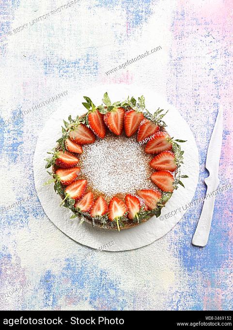 tarta vegana de almendra / vegan almond cake