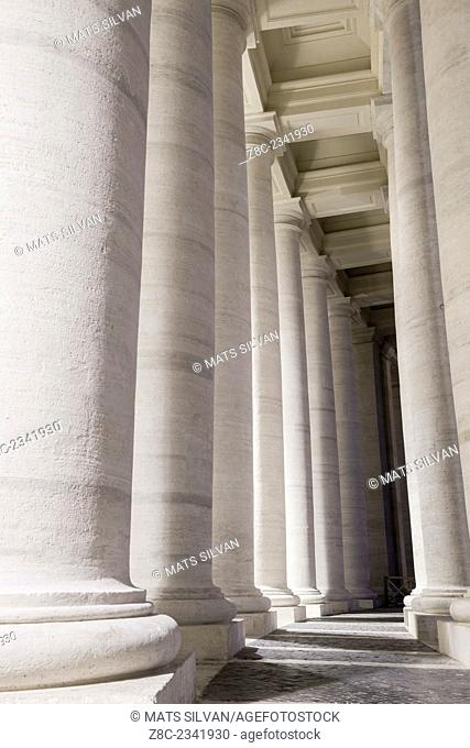 Columns in Vatican City in Rome, Italy