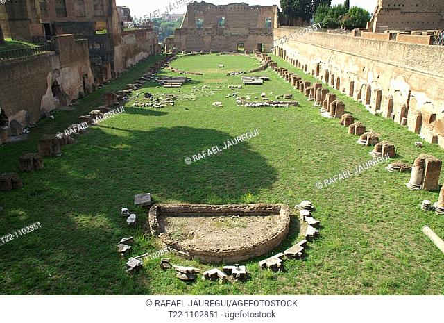 Rome Italy  Stage Palatino inside the Palatine Forum of Rome
