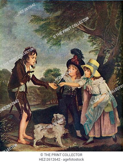 Portrait of Sir Francis Ford?s Children Giving a Coin to a Beggar Boy. Exhibited 1793 (1906). Artist: Charles Wilkinson