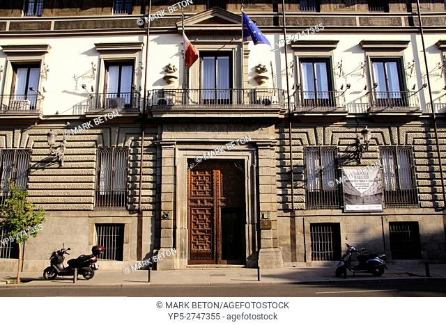 Palacio de Abrantes Italian Cultural Institute Calle Mayor Madrid Spain