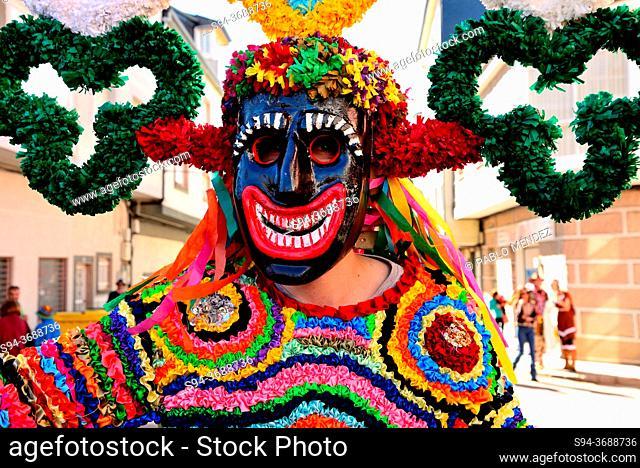 Boteiros of Viana council. Entroido or carnival of Viana do Bolo, Orense, Spain