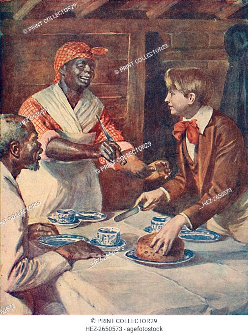 Now for the cake, said Mas'r George', 1929. Artist: Unknown