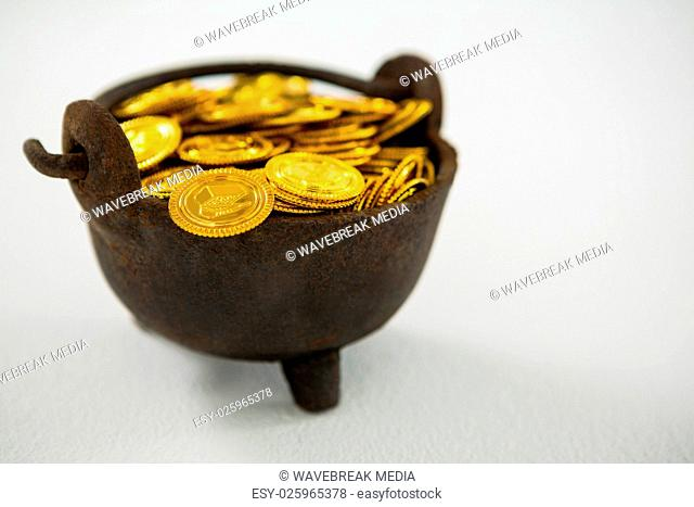 Studio shot chocolate coin Stock Photos and Images | age fotostock