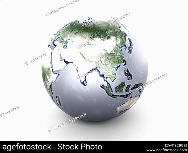 Metal Globe - Asia