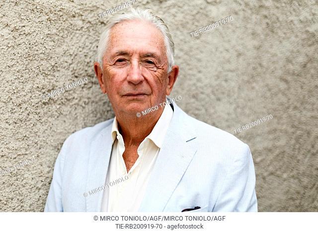 The writer Peter Cunningham poses for photographers at Literature Festival Pordenonelegge 2019, Pordenone, ITALY-19-09-2019