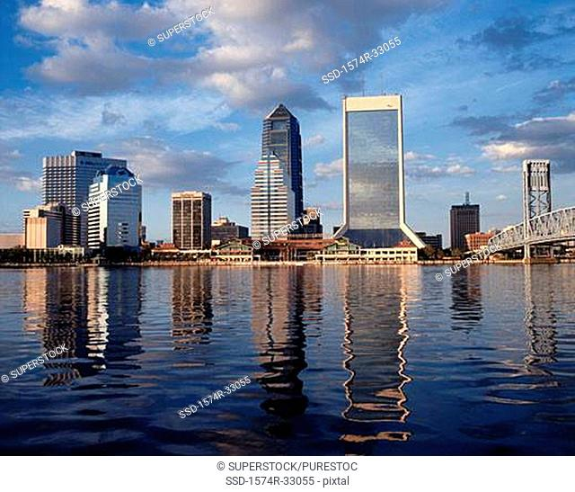 Buildings on the waterfront, Jacksonville, Florida, USA