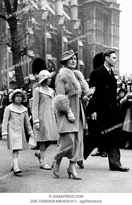 April 28, 1938 - London, England, U.K. - The House of Windsor came into being in 1917, when the name was adopted as the British Royal Family's official name by...
