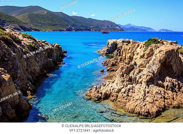 France, Corse, clear water at Ostriconi beach, Balagne