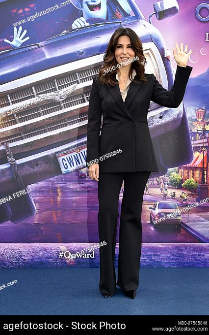 Italian actress Sabrina Ferilli during photocall for the presentation of the Disney cartoon Pixar Onward. Rome (Italy), February 25th, 2020