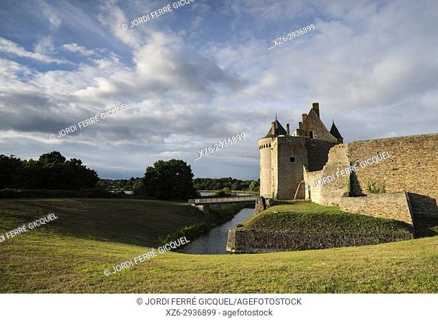 Medieval castle Château de Suscinio, Morbihan, Brittany, France, Europe