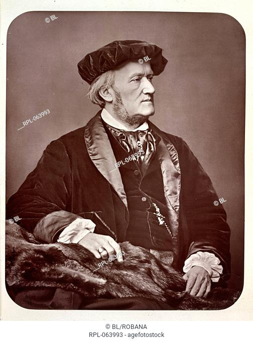 Richard Wilhelm Wagner 1813-1883. Portrait. German composer. Image taken from The Portrait. no. 1-15. Originally published/produced in London 1877