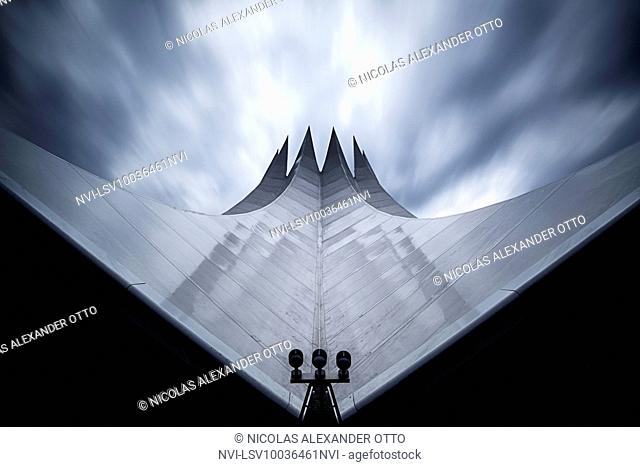Roof of the Tempodrom at long exposure, Berlin, Germany
