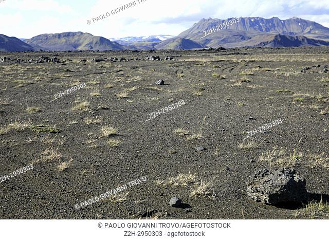 Landscape to Landmannalaugar, Iceland, Europe
