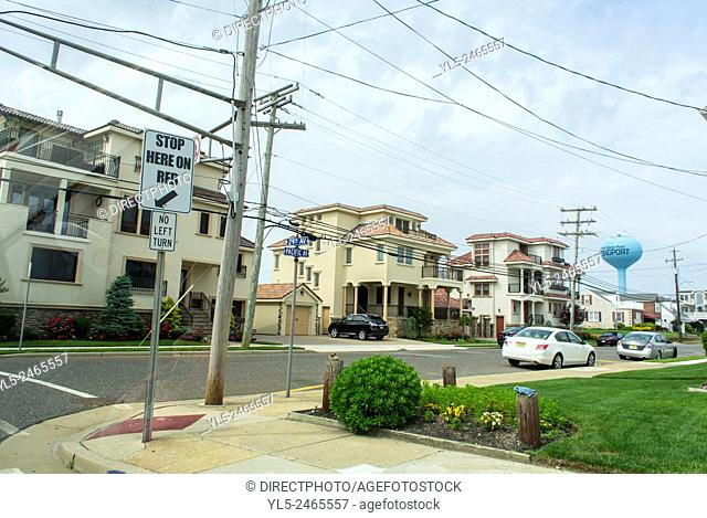 Ocean City, New Jersey, USA, Street Scenes, view of Wooden houses, Resort Town