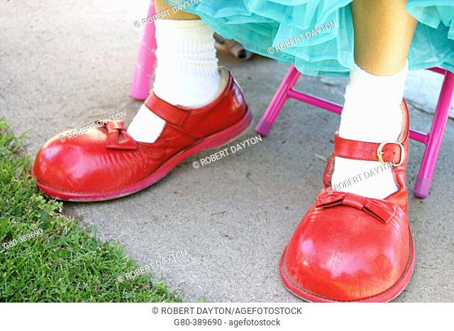 Clown's red shoes