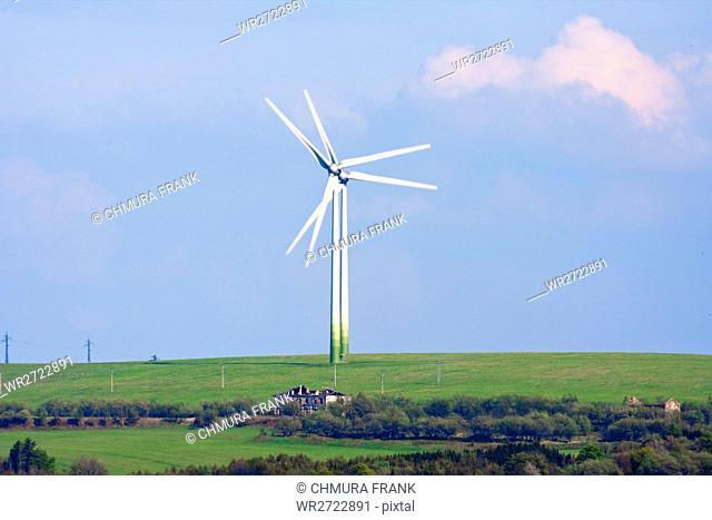 alternative energy - wind turbines farm in czech republic