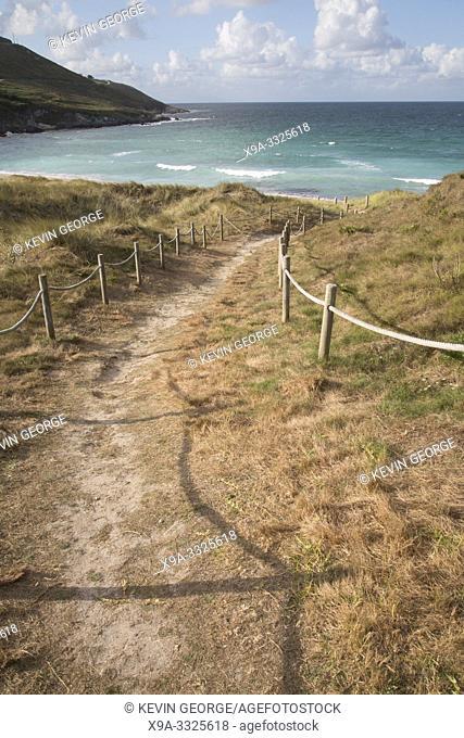 Footpath to Beach at Malpica; Fisterra; Costa de la Muerte; Galicia; Spain