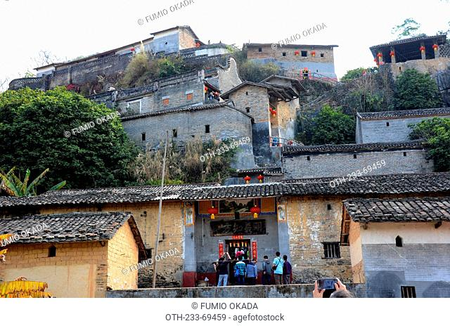 Peng ancestral hall, dubbed as 'Mini Potala Palace, Yingde county, Qing Yuan, China, Qing Yuan, China