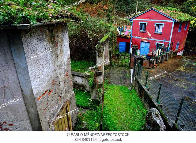 Old corner in Cudillero, Asturias, Spain