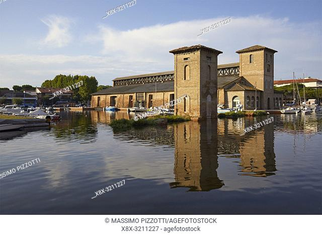 The historic Salt Storehouse in Cervia, Italy