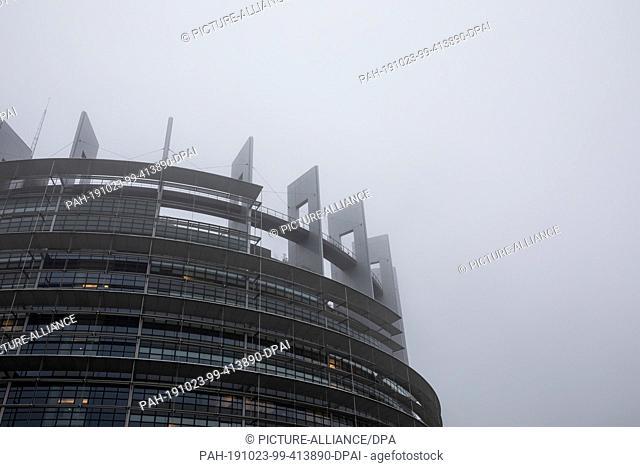 23 October 2019, France (France), Straßburg: The European Parliament building. Photo: Philipp von Ditfurth/dpa. - Straßburg/Grand east/France (France)