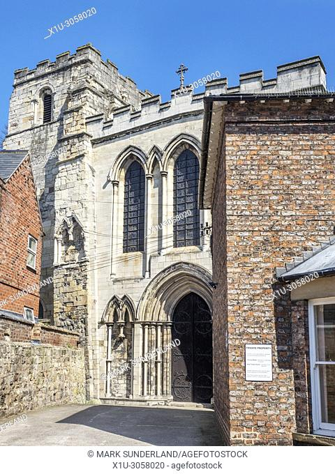 Priory Church of the Holy Trinity from Priory Street in the historic quarter of Micklegate in York Yorkshire England