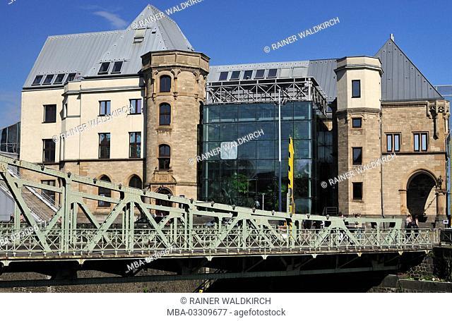 Germany, North Rhine-Westphalia, Cologne, Rhine shore promenade, Imhoff-Stollwerck chocolate museum