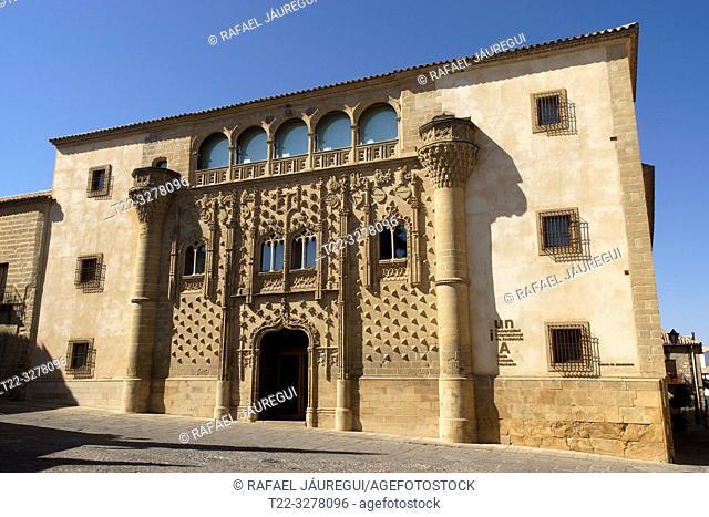 Baeza (Spain). Facade of the Jabalquinto Palace in the town of Baeza