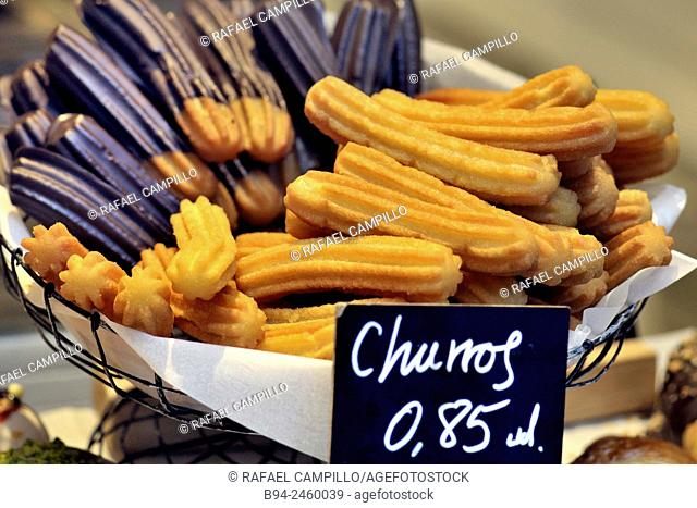 Churro is a fried-dough pastry -predominantly choux- based snack. Churros are popular in Spain, France, the Philippines, Portugal