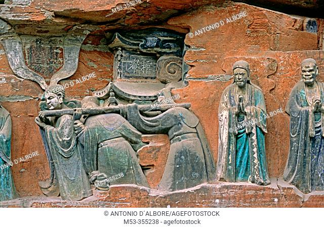 Grottoes in Dazu, Chongqing, China