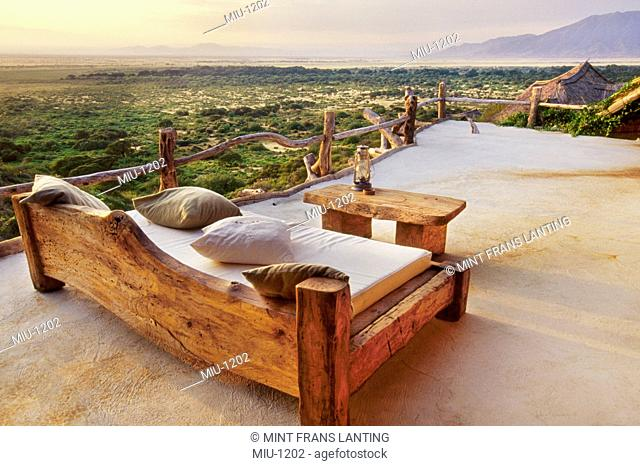 View from the terrace of a hotel of the Great Rift Valley, Shompole Lodge, Kenya