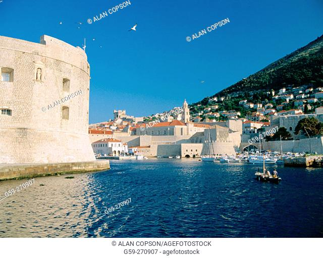 Old harbour. Dubrovnik. Croatia