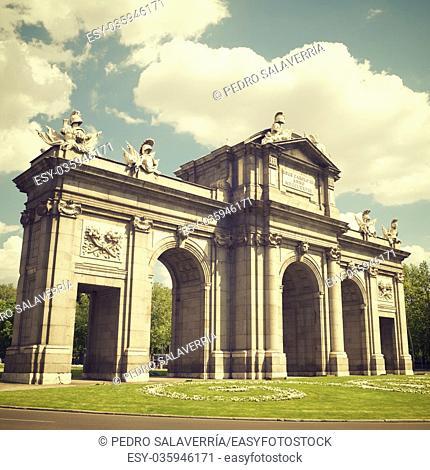 Puerta de Alcala view in Madrid, Spain