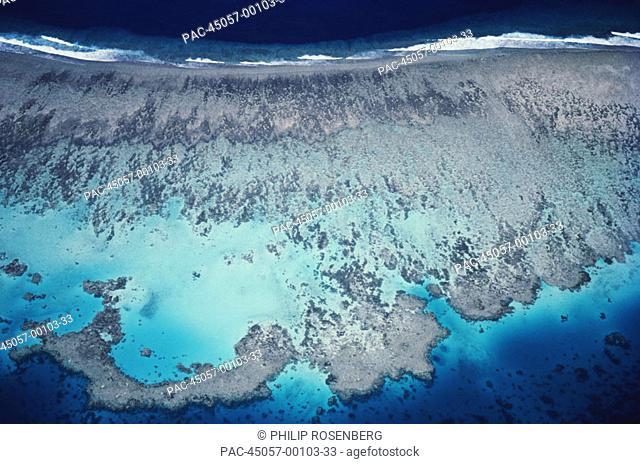 Micronesia, Ponape, Barrier reef aerial