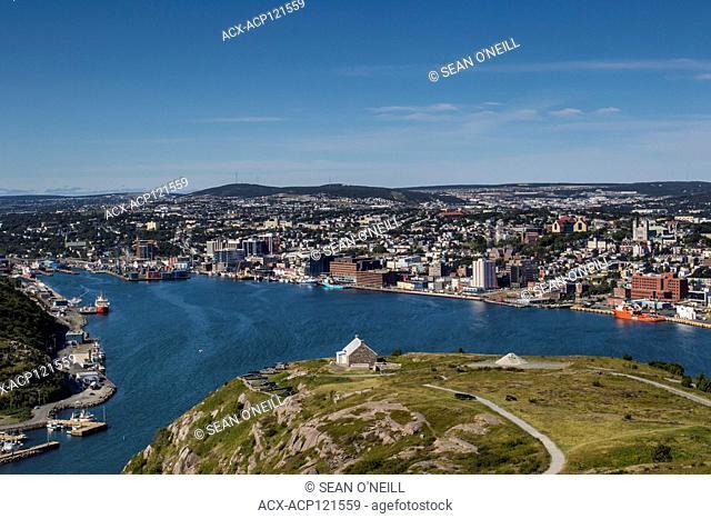 Downtown St. John's skyline, Newfoundland, Canada