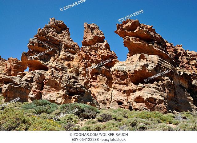 Piedras Amarillas, Teneriffa, Piedras, Amarillas, ROQUES CAPRICHO, teide-nationalpark, canadas, felsen, fels, felsgruppe, geologie, spanien, kanaren