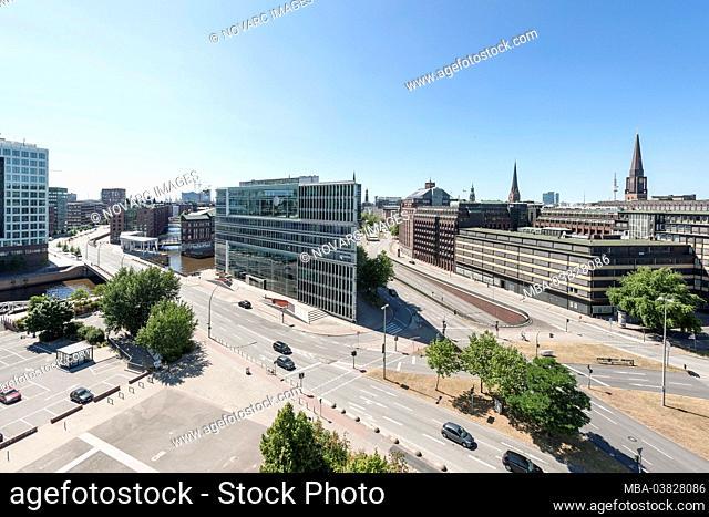 Panorama, aerial view, city, Hanseatic City of Hamburg, Germany