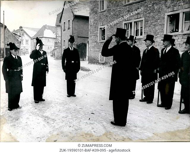 Jan. 01, 1959 - With dress-coat and silk hat: the menof the lower Frankonia place Oberschwarzach meet on each January 20th since 1611 to honour the patron saint...